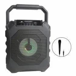 Black Rectangular TYOON Portable Speaker 10W with Wired MIC, Size: Medium