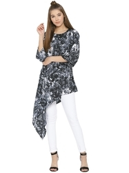Women Printed A-Line Long Top