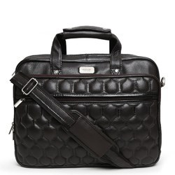 Leather Brown Office Laptop Briefcase