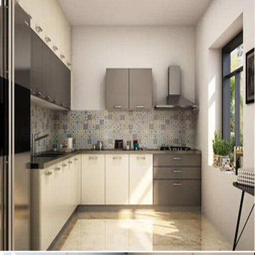Designer L Shaped Modular Kitchen At Rs 2500 Square Feet: Plywood L Shaped Modular Kitchen, Rs 1250 /square Feet