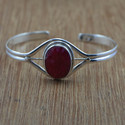 925 Sterling Silver Ruby Gemstone Jewelry Bangle