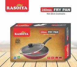 Red Aluminium Rasoiya 240 Dia 3mm Fry Pan, For Home, Capacity: 2.5Ltrs