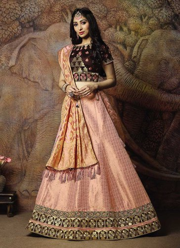 8ad0286f6a Semi-Stitched Raw Silk Designer Party Wear Lehenga Choli, Rs 4425 ...