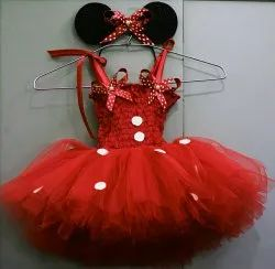 Red Color Minnie Mouse Dress