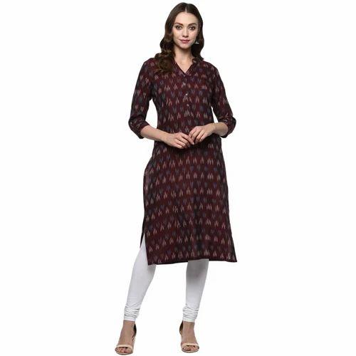 2e73f44d6d Cotton Printed Handloom Ikat Kurti With Pockets, Size: XL, Rs 750 ...