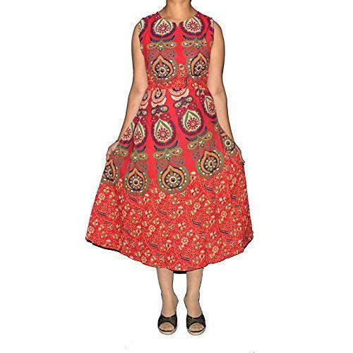 2e857aeece25c Cotton Red Naaptol Print Dress, Rs 190 /piece, Star Product   ID ...