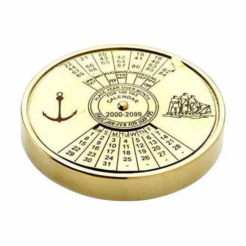 Yellow Brass Calendar, Packaging Type: Box