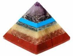 Kesar Zems Stone Seven Chakra Pyramid (3.5 cm x 3.5 cm x 3.5 cm)