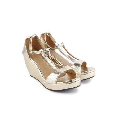 2d5358037 Ladies Golden High Heel Wedges at Rs 240  pair