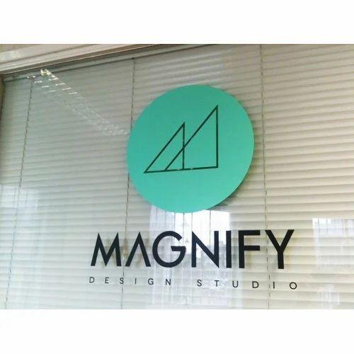 Company logo sticker