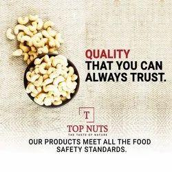 Top Nut Whole Organic Cashew Nuts, Packaging Size: 10 kg, Grade: W400