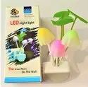 Kid's Plastic Magic Night Lamp Beautiful Illumination Automatic on/off Smart Sensor (Multi-coloured)