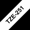 Brother TZe-251 Labelling Tape Cassette Black on White, 24mm x 8m