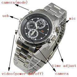16GB Full HD Spy Steel Wrist Watch Hidden Camera