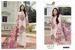 Saniya Trendz Iris Lawn 2019 Pakistani Dress Materials