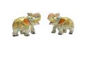 Marble Elephant Pair Medium