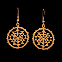 Gypsy Tribal Bohemian Star Moon Design Dangle Earring