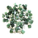 Emerald Rough Stone Charm Pendant