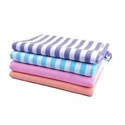 Stripe Cotton Bath Towel, Size: 27x54 Inch