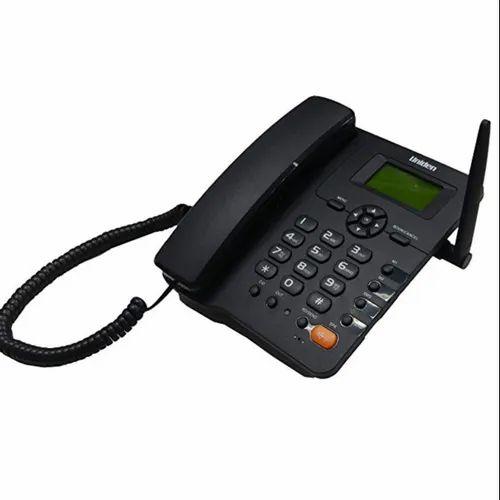 Black Uniden FWP001 Fixed Wireless GSM Phone