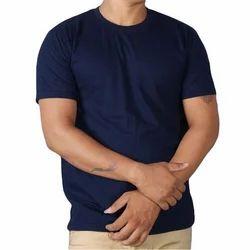 Unisex Navy Blue Round Neck T-Shirt