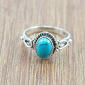 925 STERLING SILVER JEWELRY TURQUOISE STONE NEW FASHION RING WR-5001