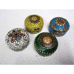 Decorative Handicraft Lac Round Box