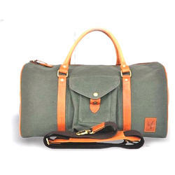 Canvas And Genuine Leather Luggage Bags
