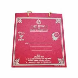 Pink Bag Invite Wedding Invitation Card