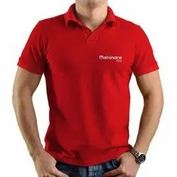 Cotton Red Promotional T Shirt Printing Service