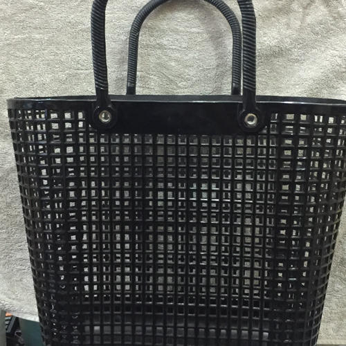 Plastic Black Shopping Basket