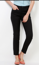 67% Cotton Ultra Slim Fit Van Heusen Black Jeans VWDN517L06005