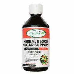 Insulin Plant Leaf Liquid INSULAS Costus igneus juice, Packaging Size: 400 Ml