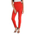 Red color Side white moti with pearl leggings