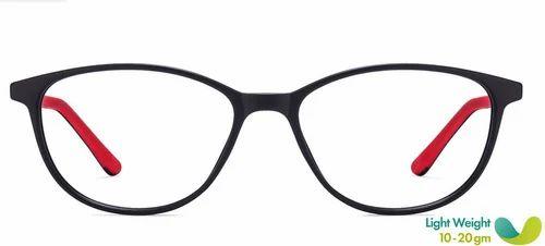 1dd10a9620 Matte Black Red Full Rim Cat Eye Medium Eyeglasses at Rs 3500  piece ...