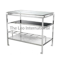 Stainless Steel and Glass Table