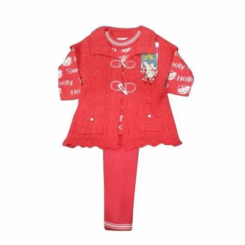 4d369df58 Girls Party Wear Kids Woolen Suit