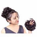 Women Curly Hair Bride Bun Juda