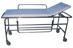 standard steel White Adjustable Patient Stretcher, 2 Castor With Locking, Size: 84X24X36