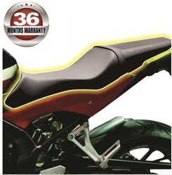 Leather & Velvet Black Motorcycle Seat Cover