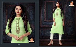 Stitched Light Green Designer Kurti