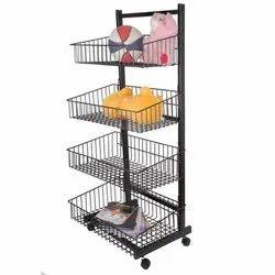 Mild Steel 4-Wheeler Basket Rack, Model Number: 5064