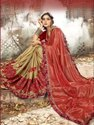 Designer Half & Half Party Wear Georgette Sarees