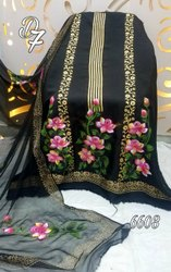 Upada Silk Hand Painted Suit