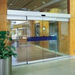 Mamsons Sliding Frameless Glass Door, For Commercial
