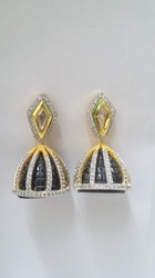 C Z  Jhumka Earrings