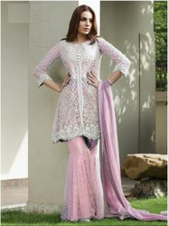 Designer  Embroidery Work And Santoon Palazzo