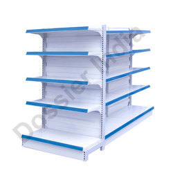 Metal White Double Sided Display Rack