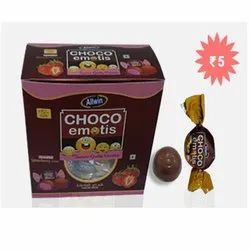 Strawberry Cream Choco Emotis Chocolate Candy, Packaging Size: 60 Piece, Weight: 810g