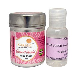 Rose And Sandal Face Mask